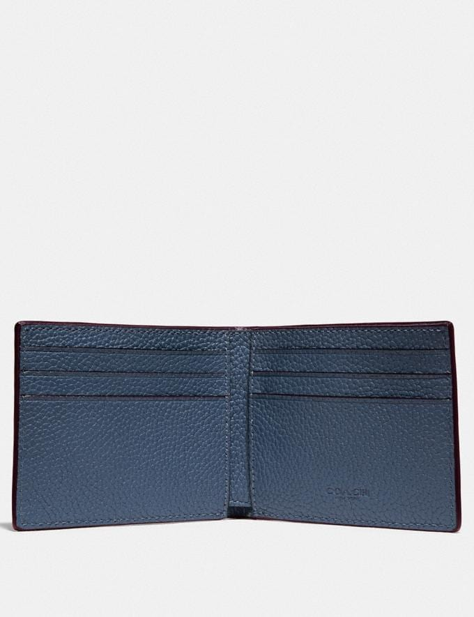 Coach Slim Billfold Wallet in Colorblock Black/Dark Honey New Men's New Arrivals Wallets Alternate View 1