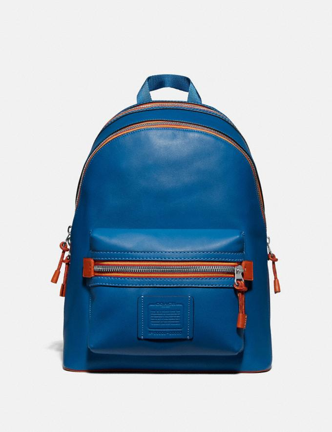 Coach Academy Backpack With Varsity Zipper Sv/Pacific Men Bags Backpacks