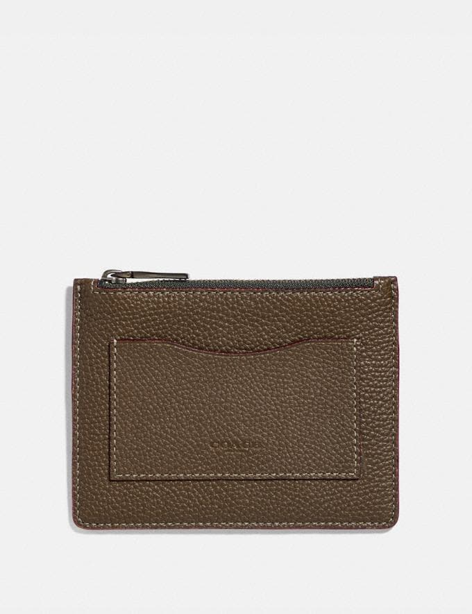 Coach Large Card Case Moss/Denim Men Wallets