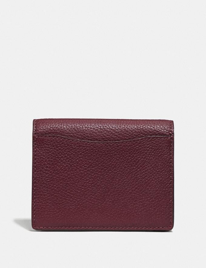 Coach Small Snap Wallet in Colorblock Vintage Mauve Multi/Gold New Women's New Arrivals Wallets & Wristlets Alternate View 1