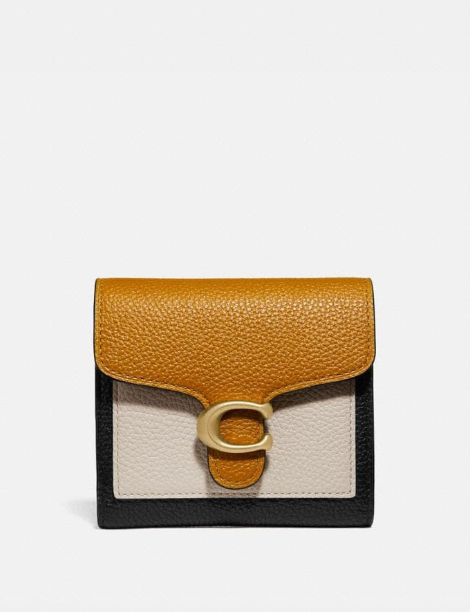 Coach Tabby Small Wallet in Colorblock Straw Multi/Brass Women Collection Tabby