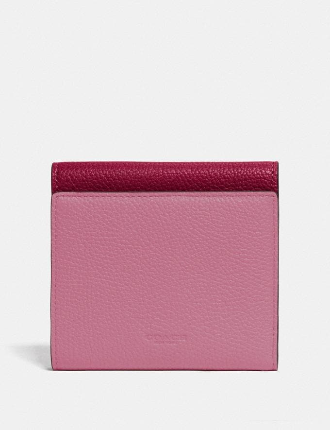 Coach Tabby Small Wallet in Colorblock Brass/Deep Red Multi  Alternate View 1