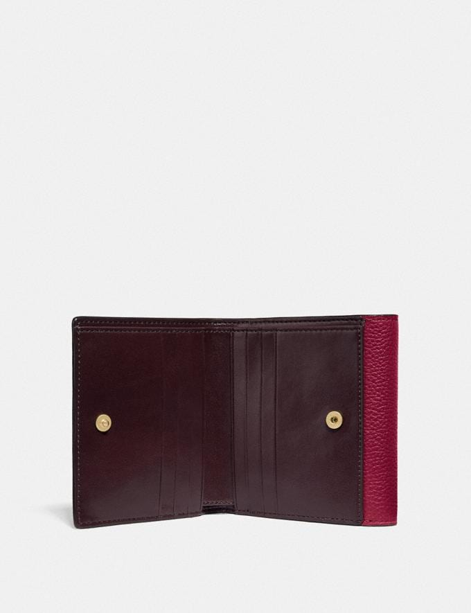 Coach Tabby Small Wallet in Colorblock Brass/Deep Red Multi  Alternate View 2