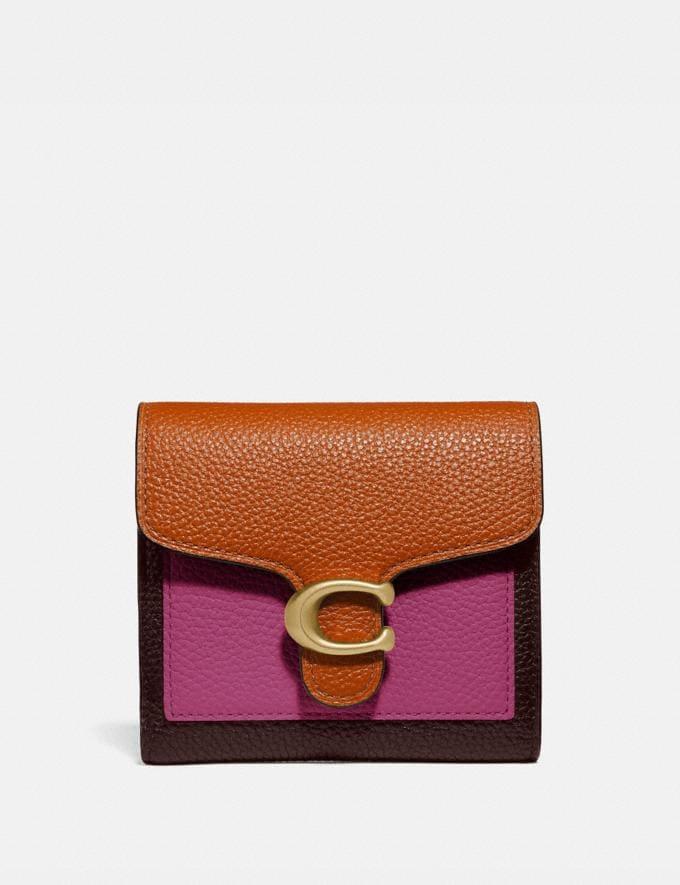 Coach Tabby Small Wallet in Colorblock Brass/Dark Teak Multi New Women's New Arrivals Wallets & Wristlets