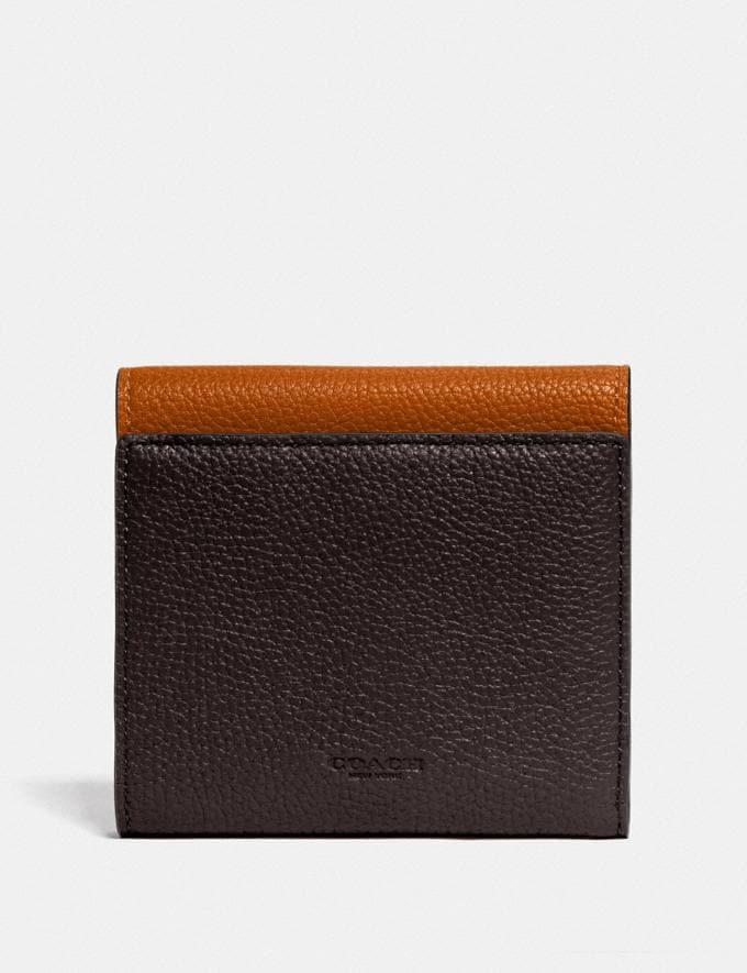 Coach Tabby Small Wallet in Colorblock Brass/Dark Teak Multi New Women's New Arrivals Wallets & Wristlets Alternate View 1