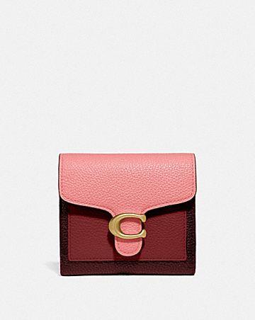 portafoglio piccolo tabby a blocchi di colore