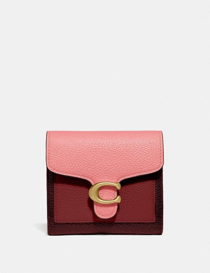 Coach Tabby Small Wallet in Colorblock B4/Candy Pink Multi DEFAULT_CATEGORY