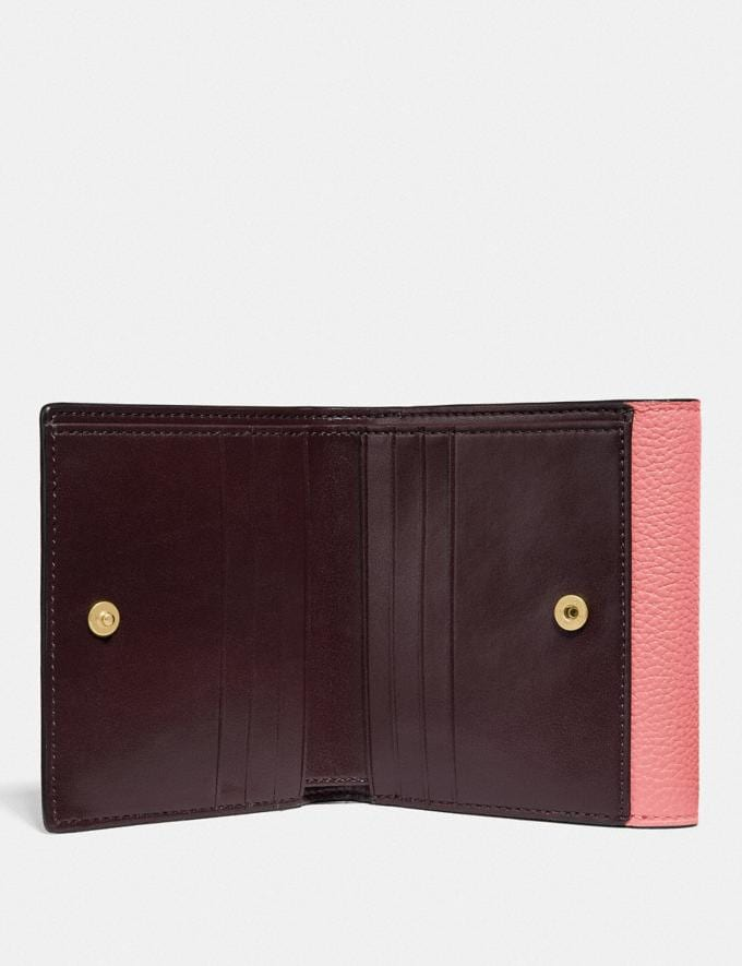 Coach Tabby Small Wallet in Colorblock B4/Candy Pink Multi DEFAULT_CATEGORY Alternate View 1