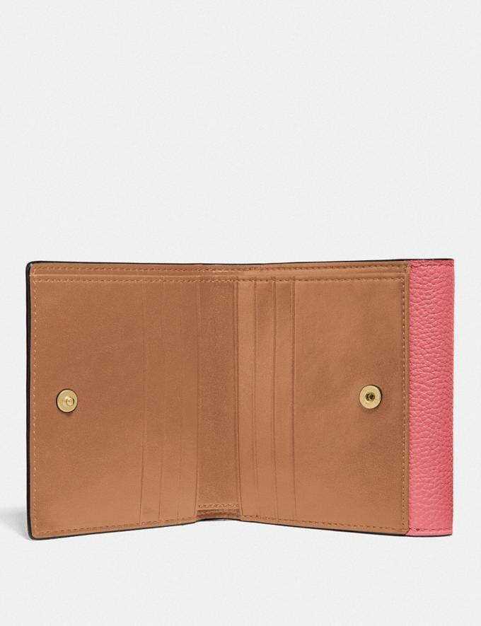 Coach Tabby Small Wallet in Colorblock B4/Taffy Orange Multi New Women's New Arrivals Small Leather Goods Alternate View 1