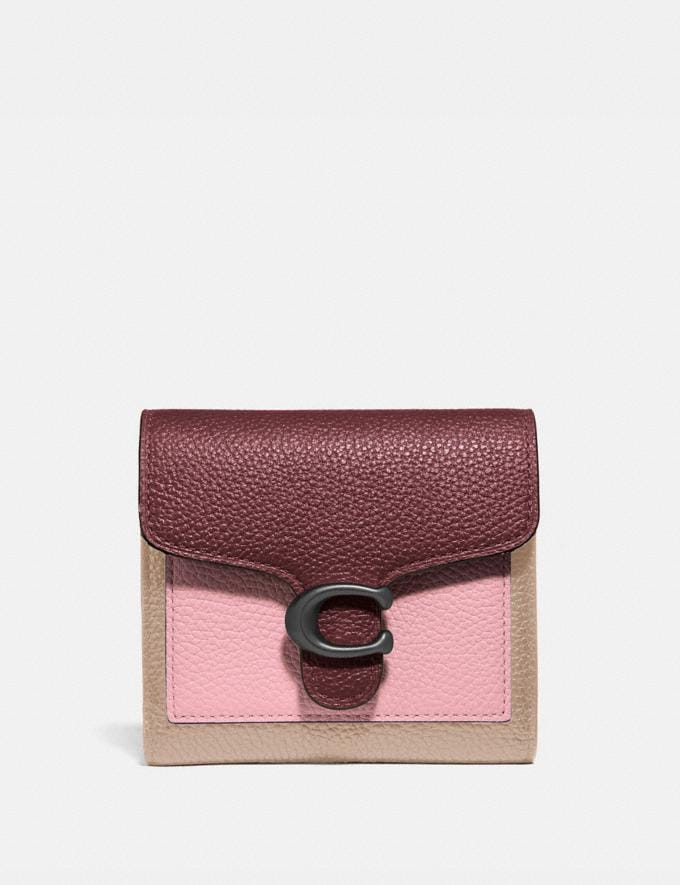 Coach Tabby Small Wallet in Colorblock V5/Powder Pink Multi Women Small Leather Goods Small Wallets