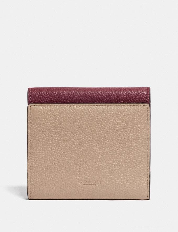 Coach Tabby Small Wallet in Colorblock V5/Powder Pink Multi Women Small Leather Goods Small Wallets Alternate View 1