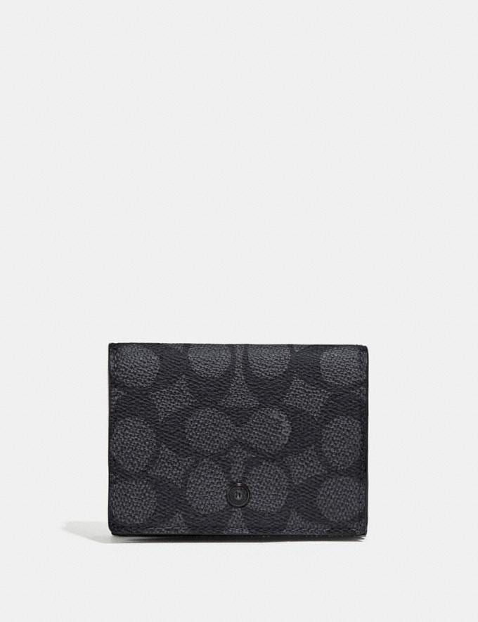 Coach Trifold Origami Coin Wallet With Signature Canvas Blocking Multi Cyber Monday Men's Cyber Monday Sale Wallets