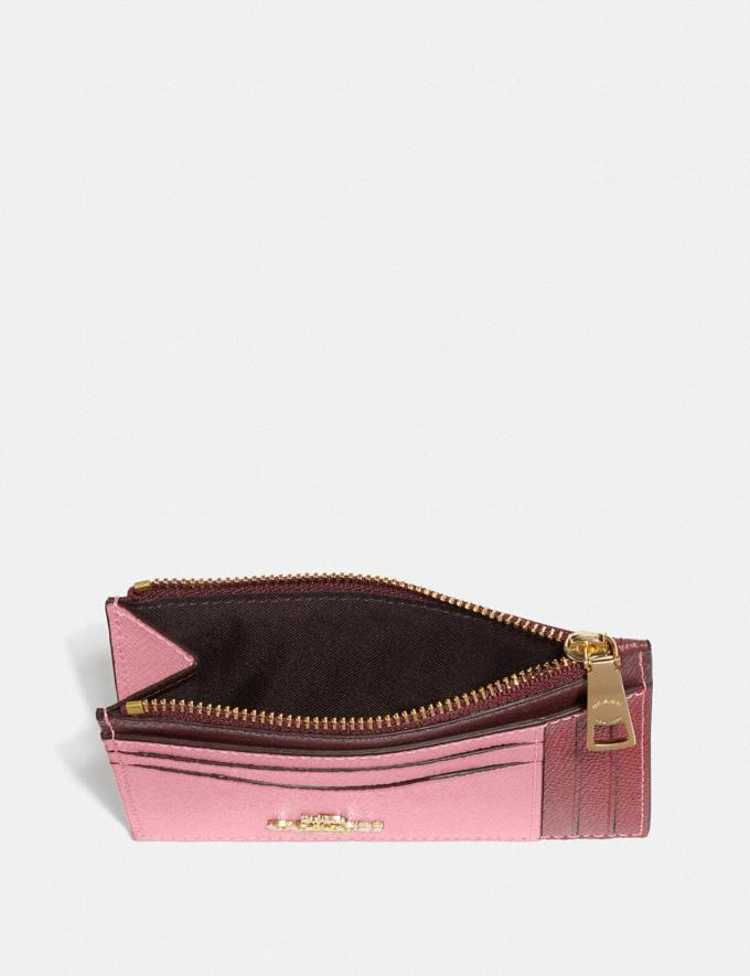 Coach Large Card Case in Colorblock True Pink Multi/Gold New Women's New Arrivals Wallets & Wristlets Alternate View 1