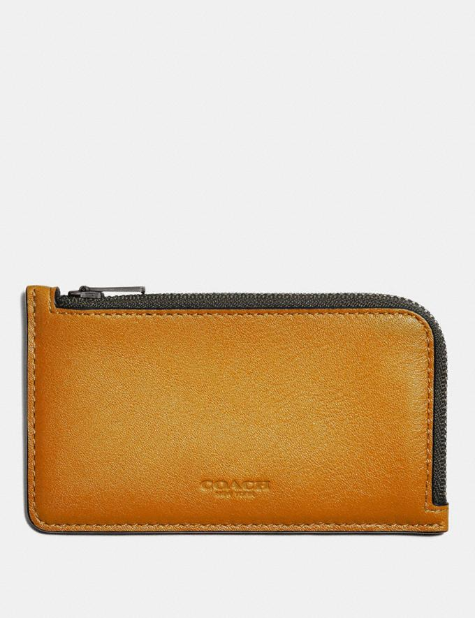 Coach L-Zip Card Case in Colorblock Dark Honey Multi Cyber Monday Men's Cyber Monday Sale Wallets