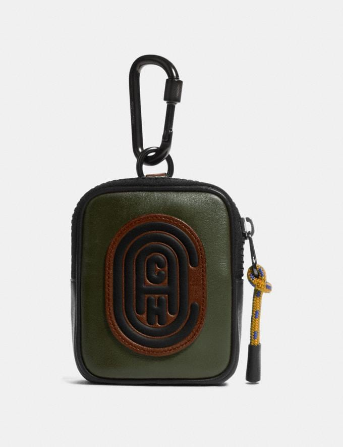 Coach Hybrid Pouch 8 in Colorblock With Coach Patch Moss Multi