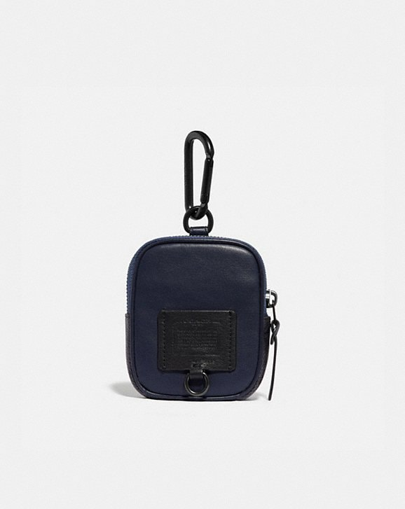 Coach HYBRID POUCH 8 WITH SIGNATURE CANVAS BLOCKING