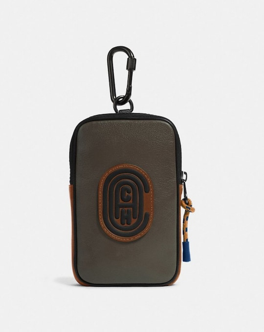 HYBRID POUCH 10 IN COLORBLOCK WITH COACH PATCH