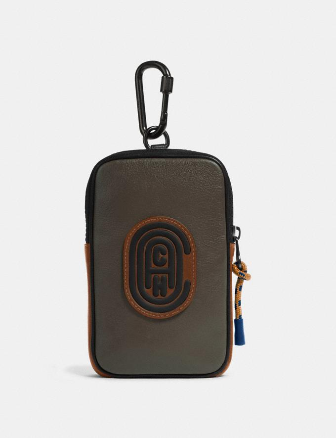 Coach Hybrid Pouch 10 in Colorblock With Coach Patch Moss Multi New Men's New Arrivals Accessories