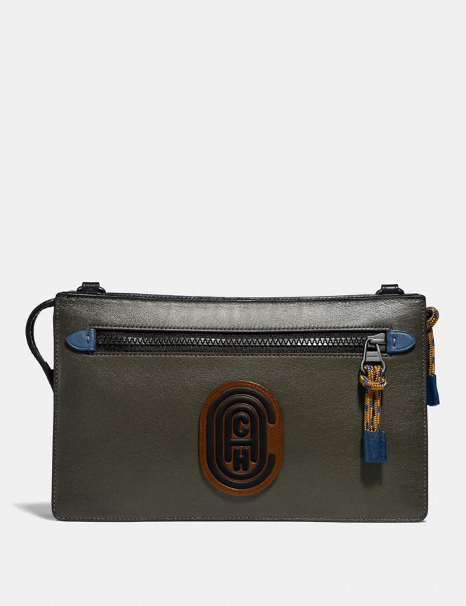 Coach Rivington Convertible Pouch in Colorblock With Coach Patch Multi Cyber Monday Men's Cyber Monday Sale Accessories