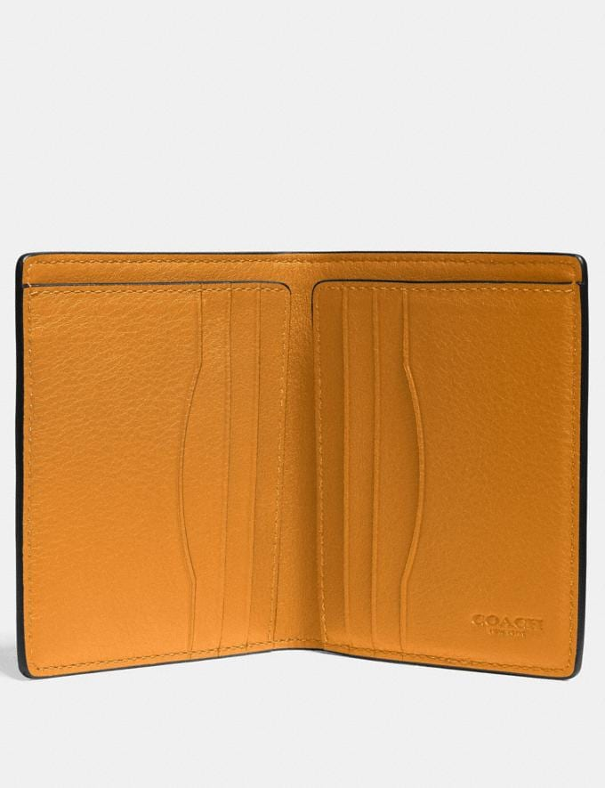 Coach Slim Wallet in Colorblock With Coach Patch Dark Honey Multi Men Wallets Billfolds Alternate View 1