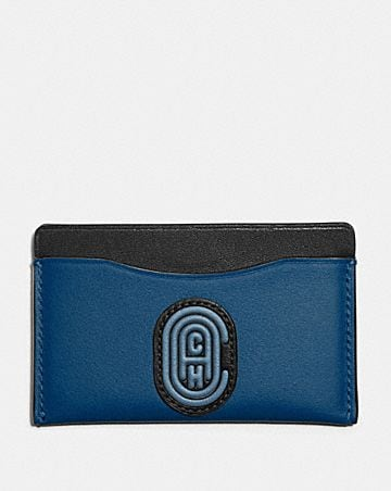 SMALL CARD CASE IN COLORBLOCK WITH COACH PATCH