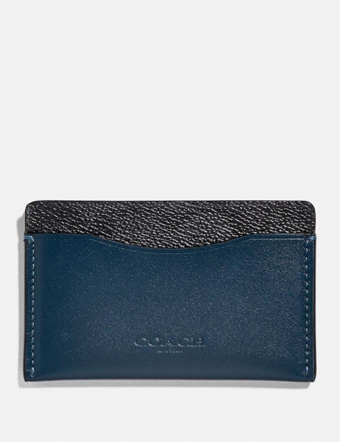 Coach Small Card Case With Signature Canvas Blocking Charcoal Signature Multi Women Wallets & Wristlets Small Wallets