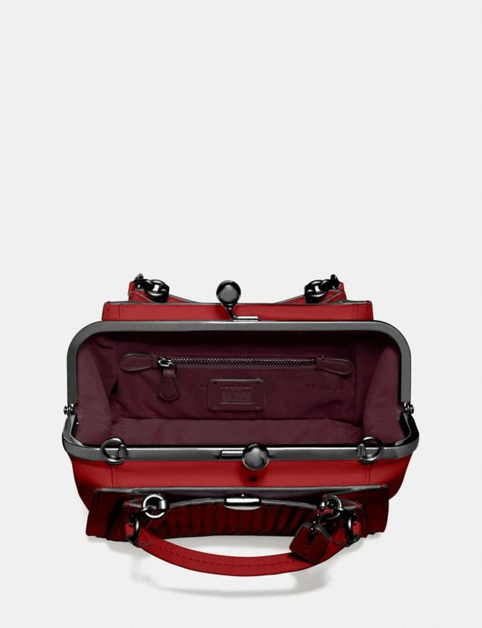 Coach Kisslock Dreamer 21 With Quilting and Rivets Red Apple/Pewter Women Bags View All Alternate View 2