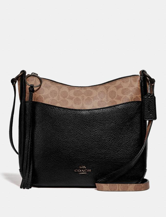 Coach Chaise Crossbody With Signature Canvas Blocking Black Women Edits Signature Styles