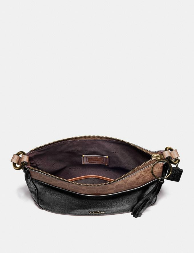 Coach Chaise Crossbody With Signature Canvas Blocking Black Women Edits Signature Styles Alternate View 3