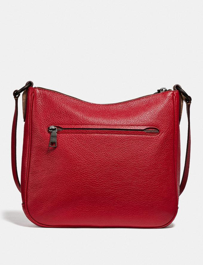 Coach Chaise Crossbody With Signature Canvas Blocking Tan Red Apple/Pewter Women Bags Crossbody Bags Alternate View 2