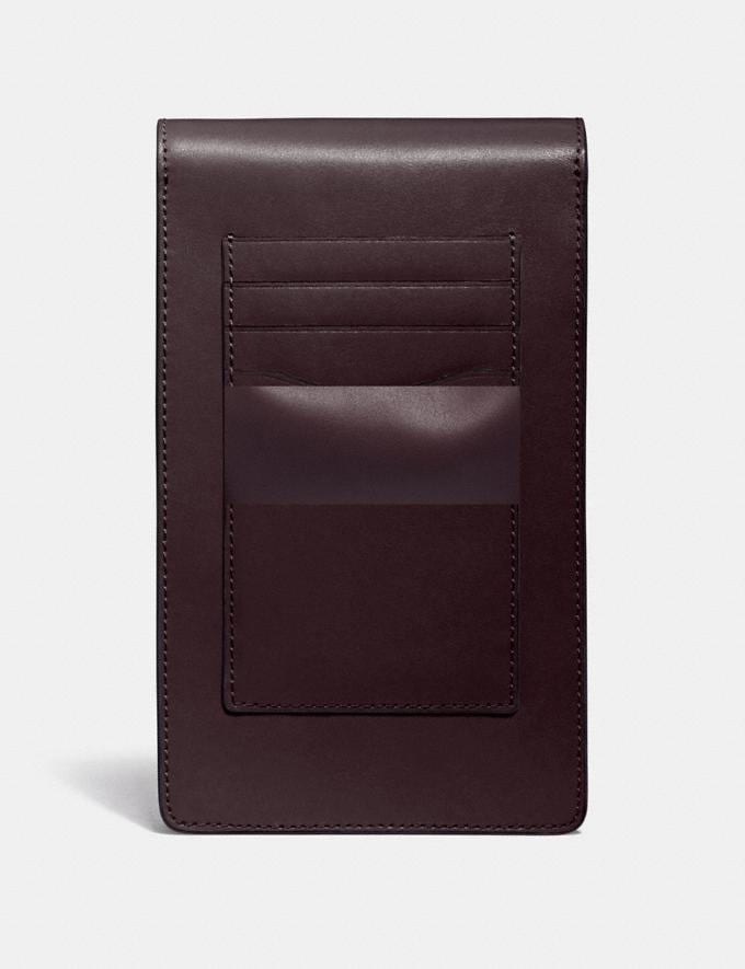 Coach Snap Phone Crossbody Gd/Oxblood VIP SALE Women's Sale Wallets & Wristlets Alternate View 1