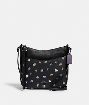 CHAISE CROSSBODY WITH VINTAGE ROSE PRINT