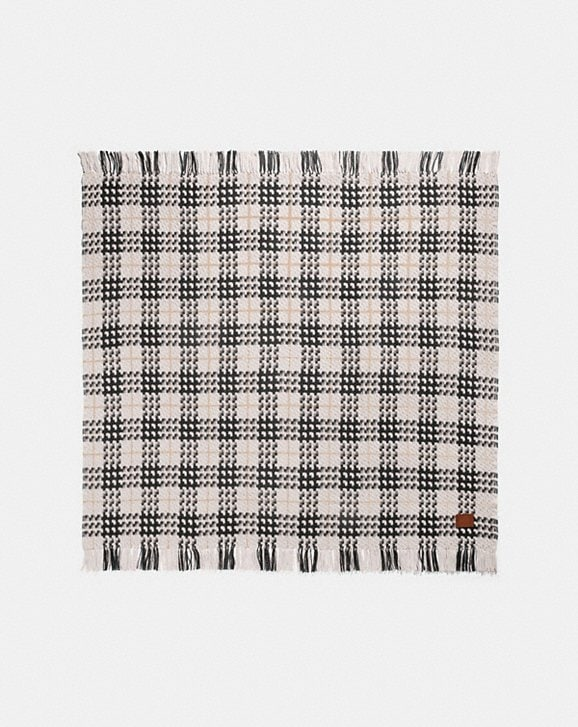 Coach PLAID PRINT BLANKET SCARF