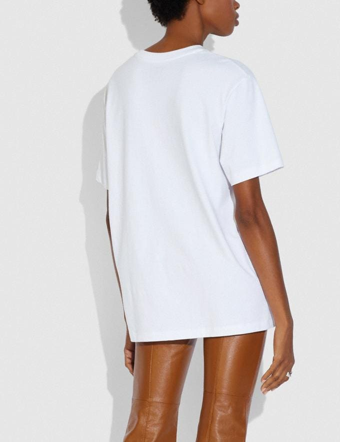 Coach Dream It Real T-Shirt White Women Ready-to-Wear Tops Alternate View 2