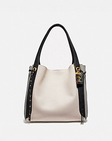 harmony hobo in colorblock snakeskin