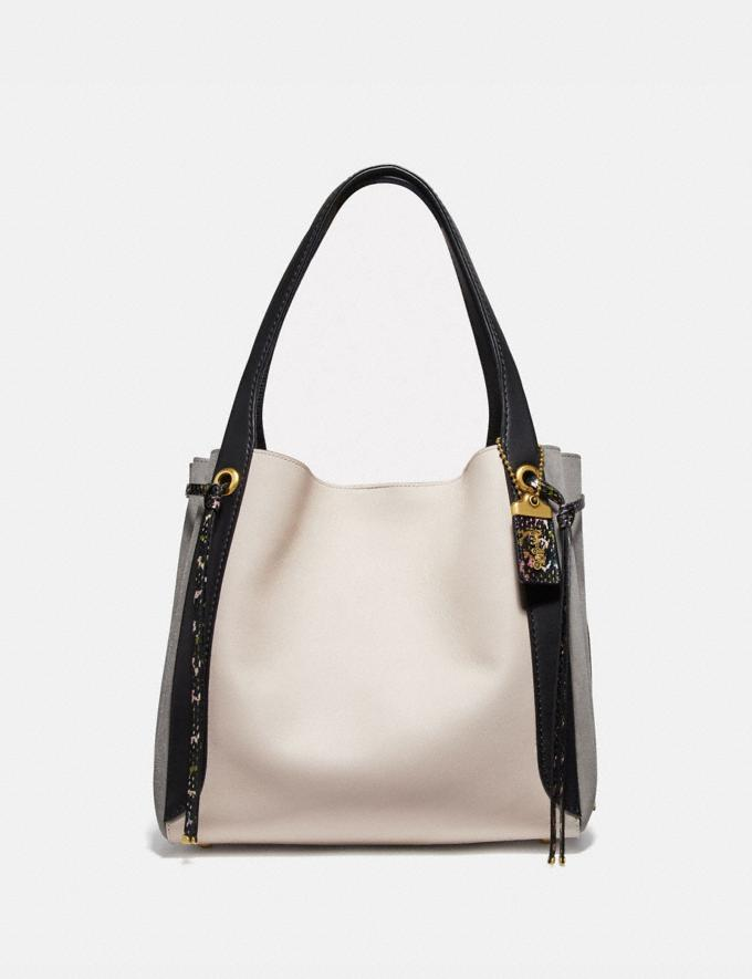 Coach Harmony Hobo in Colorblock Snakeskin Chalk Multi/Brass