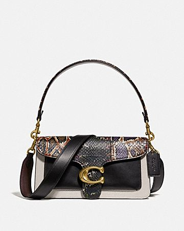 tabby shoulder bag 26 with snakeskin detail