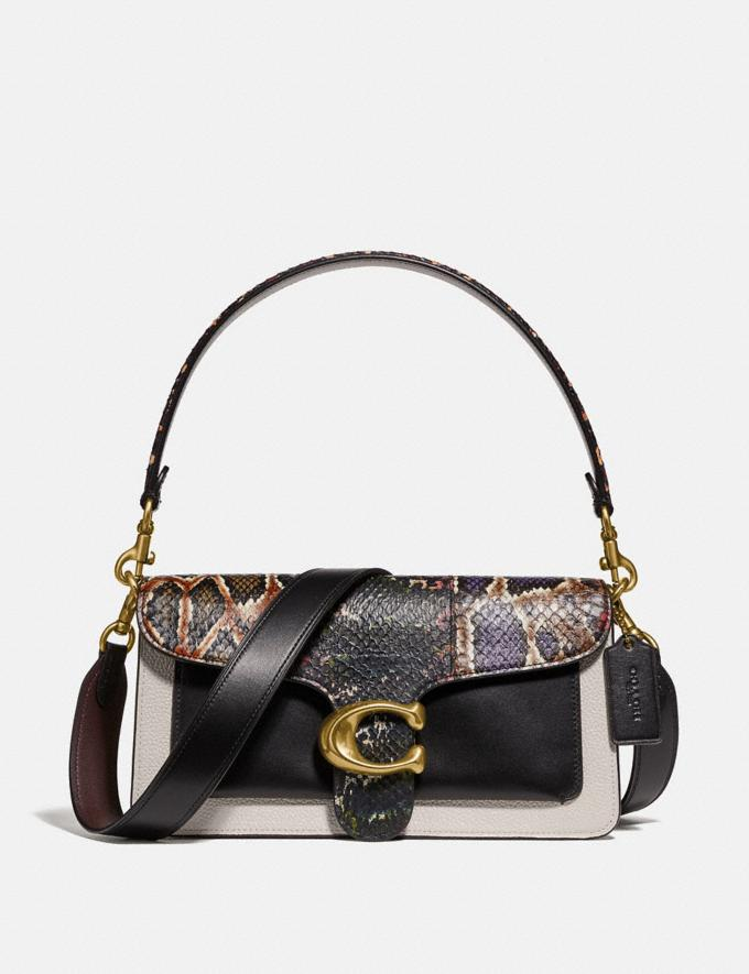 Coach Tabby Shoulder Bag 26 With Snakeskin Detail Chalk Multi/Brass New Women's New Arrivals