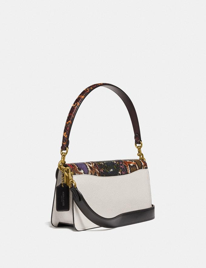 Coach Tabby Shoulder Bag 26 With Snakeskin Detail Chalk Multi/Brass New Women's New Arrivals Alternate View 1