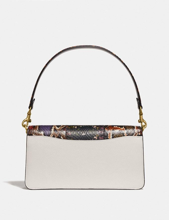 Coach Tabby Shoulder Bag 26 With Snakeskin Detail Chalk Multi/Brass New Women's New Arrivals Alternate View 2
