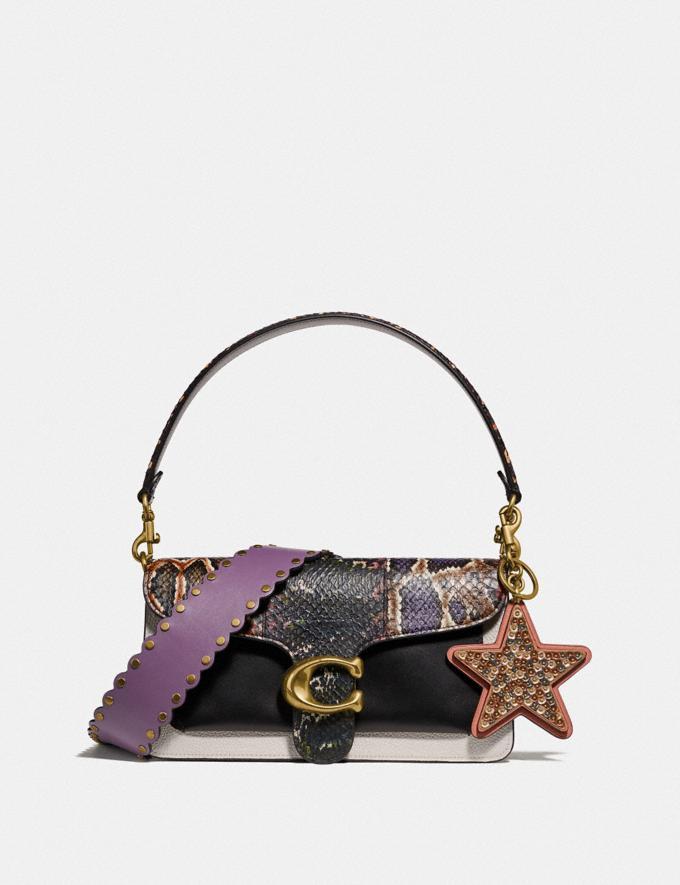 Coach Tabby Shoulder Bag 26 With Snakeskin Detail Chalk Multi/Brass Women Handbags Crossbody Bags Alternate View 4
