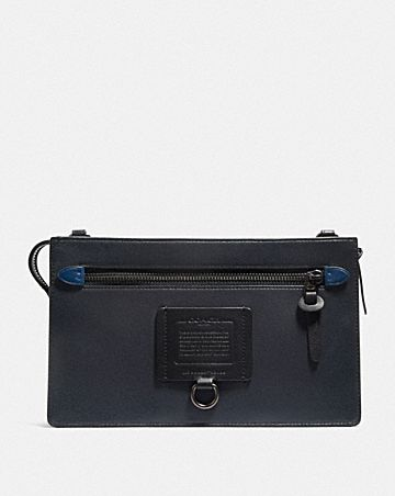 POCHETTE RIVINGTON CONVERTIBILE CON BLOCCHI IN TELA SIGNATURE