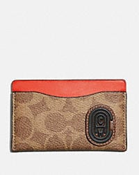 2b6ecfd4eb Small Card Case With Signature Canvas Blocking and Coach Patch | COACH