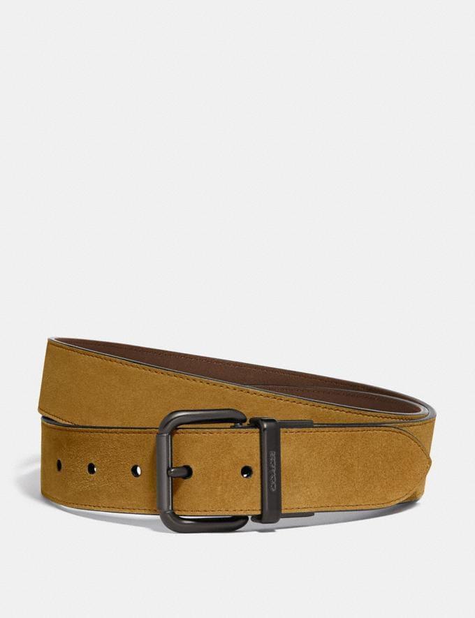 Coach Harness Cut-To-Size Belt Dark Honey New Men's New Arrivals Accessories