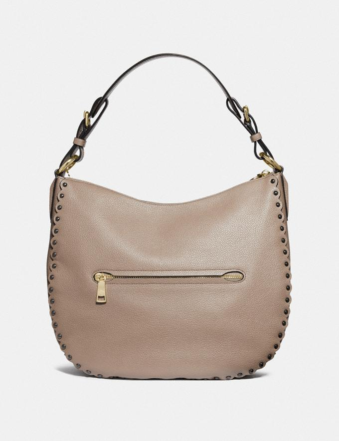 Coach Sutton Hobo With Scallop Rivets Stone/Gold Women Handbags Shoulder Bags & Hobos Alternate View 2