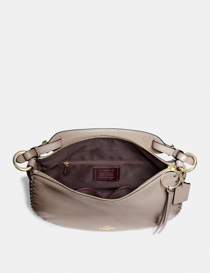 Coach Sutton Hobo With Scallop Rivets Stone/Gold Women Handbags Shoulder Bags & Hobos Alternate View 3
