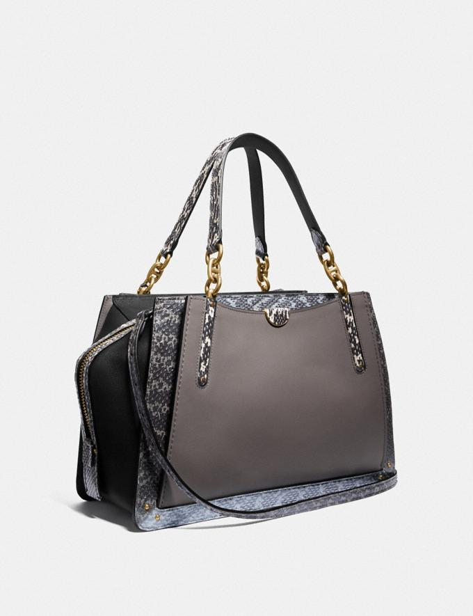 Coach Dreamer 36 in Colorblock With Snakeskin Detail B4/Heather Grey Multi Women Bags Satchels Alternate View 1