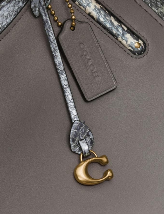 Coach Dreamer 36 in Colorblock With Snakeskin Detail Heather Grey Multi/Brass Women Collection Dreamer Alternate View 5