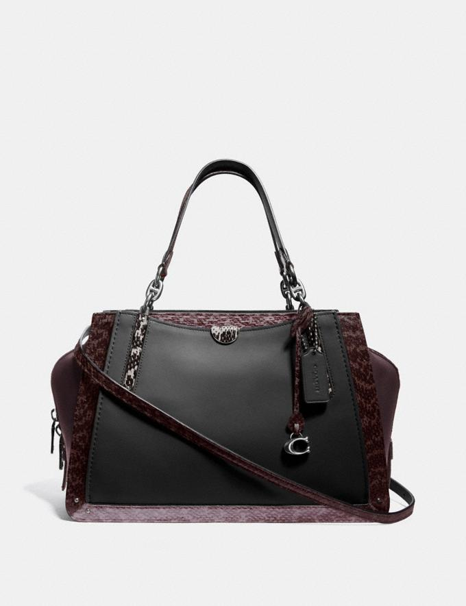 Coach Dreamer 36 in Colorblock With Snakeskin Detail V5/Black Multi Women Bags Satchels