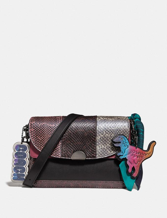 Coach Dreamer Shoulder Bag in Snakeskin Multicolor/Pewter Women Bags Shoulder Bags Alternate View 3